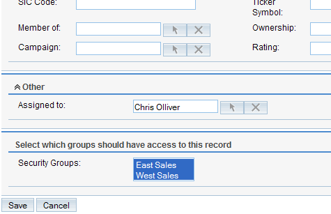 The finished product. A panel insert into SugarCRM