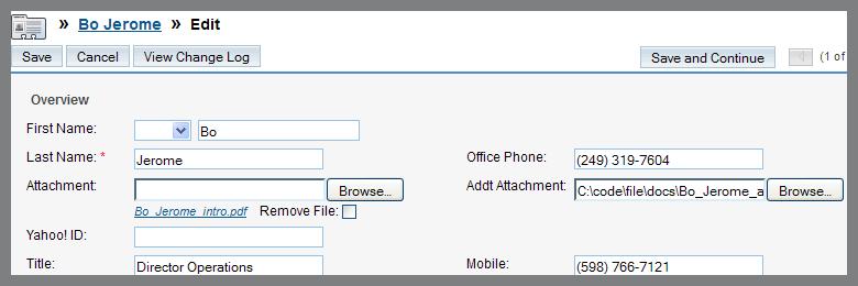 main modules uploader files list